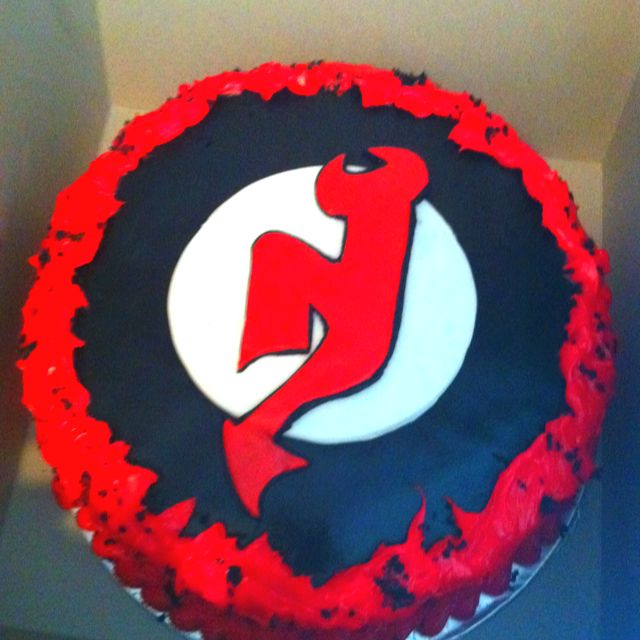 My New Jersey Devils Birthday Cake From Early June. It Weighed Over 8 Pounds!!