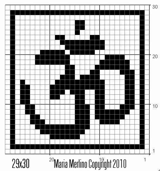 Filet Crochet: Símbolo OM AUM Gráfico Gráfico Yoga Meditación Buddah ...