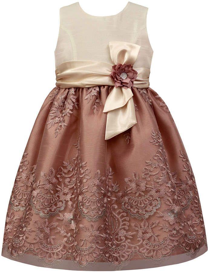 1691a6a63 Sorbet Metallic-Embroidered Dress