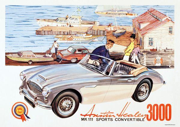 austin healey 3000 | Car Posters - Vintage | Pinterest | Austin ...
