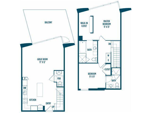 2 Bed / 2.5 Bath Apartment in WASHINGTON DC | Foundry ...