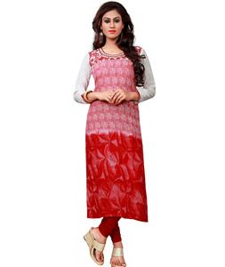 Shop Pink Cotton Printed Readymade Kurti 72297 online at best price from vast collection of designer kurti at Indianclothstore.com.