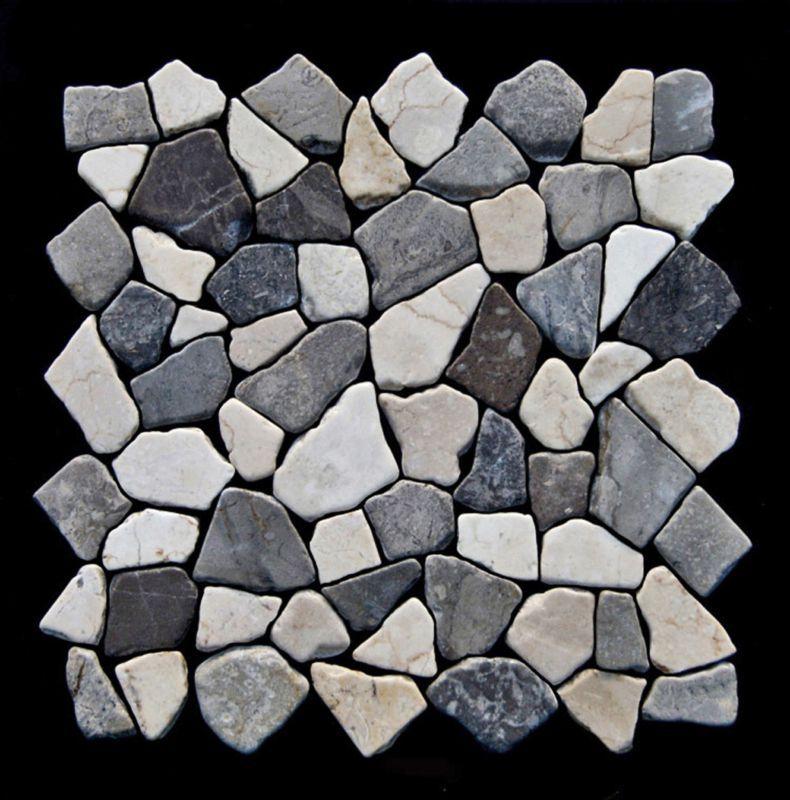 Wandfliesen Bruch-Mosaik Naturstein Ideal f/ür die K/üche und Badezimmer Naturstein Fliesen Marmor Bruch Biancone Mosaik-Fliesen