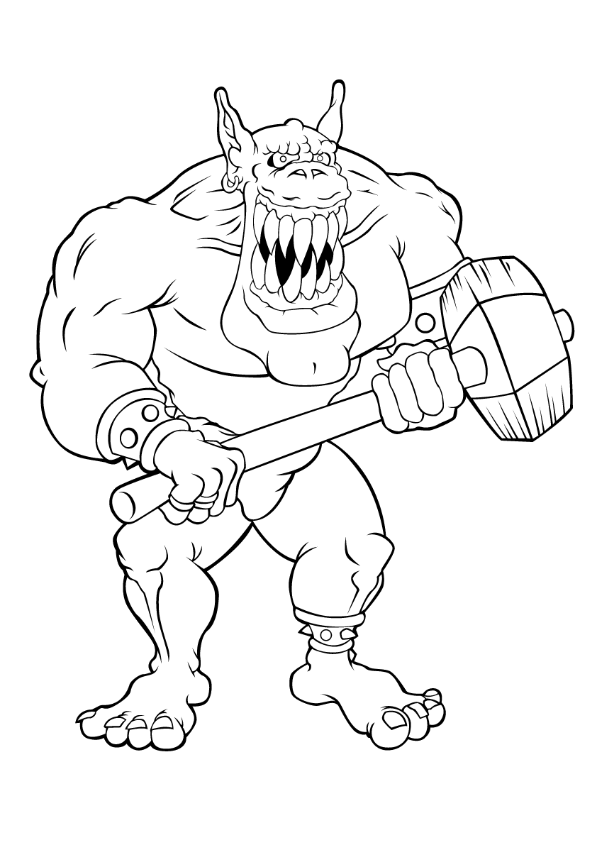 Trolls Are Very Scary Coloring Pages For Kids Dat Printable Trolls And Giants Coloring Pages For Kids Scary Coloring Pages Coloring Pages Very Scary