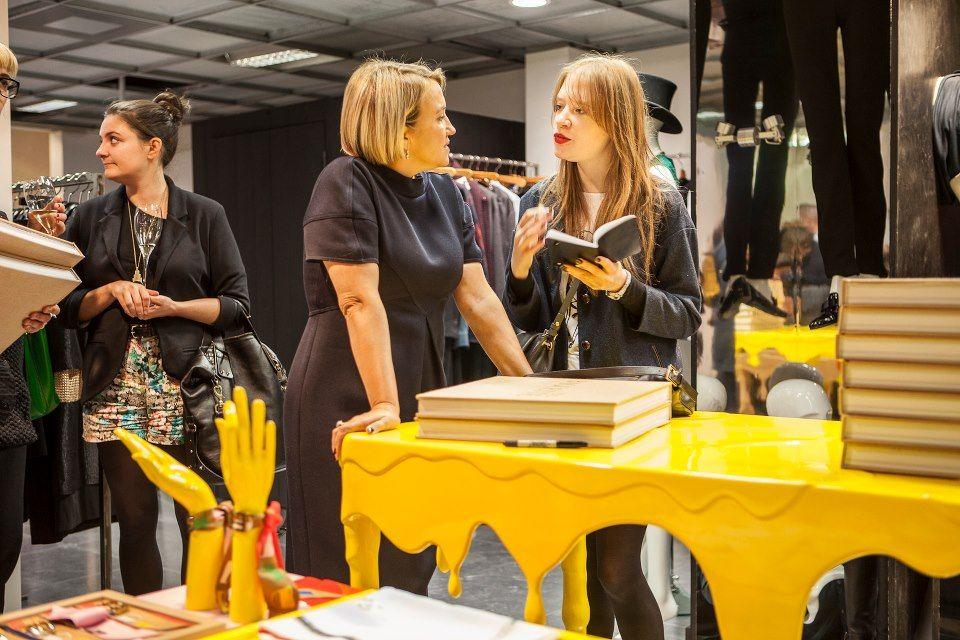 Silvia Venturini Fendi book signing at Baguettemania in Dover Street Market, London