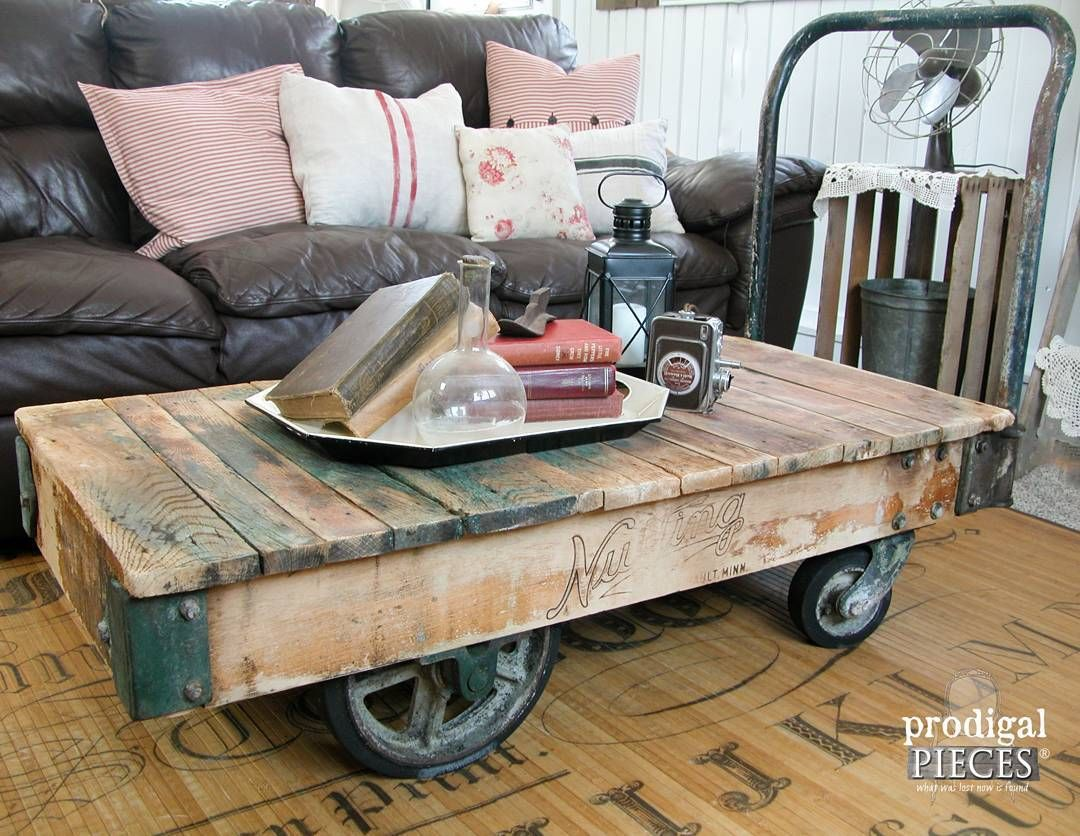 Check Out This Factory Cart Now Available In My Etsy Shop Industrial Goodness And Pa Vintage Industrial Furniture Cart Coffee Table Furniture Renovation