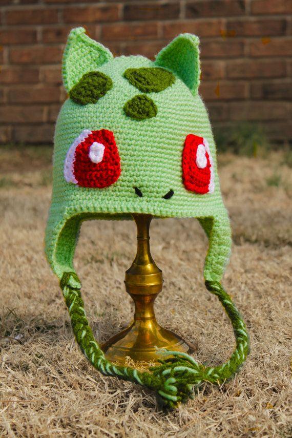 Crochet Bulbasaur!!! | Free pattern | Pinterest | Gorros, Tejido y ...