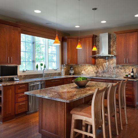 Granite Countertops Maple Cabinets Home Design Ideas ... on Maple Cabinets Countertop Ideas  id=82978