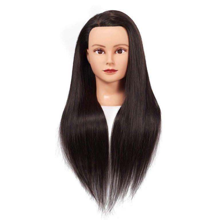 Training Head 26 28 Mannequin Head Hair Styling Manikin Cosmetology Doll Head Synthetic Fiber Hair Head Hair Hair Mannequin Hair Styles
