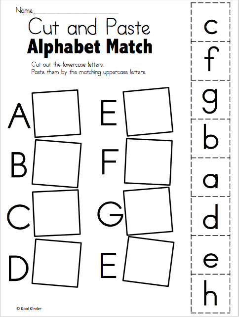 Alphabet Match A to E – Free Worksheets | Kindergarten Language Arts ...