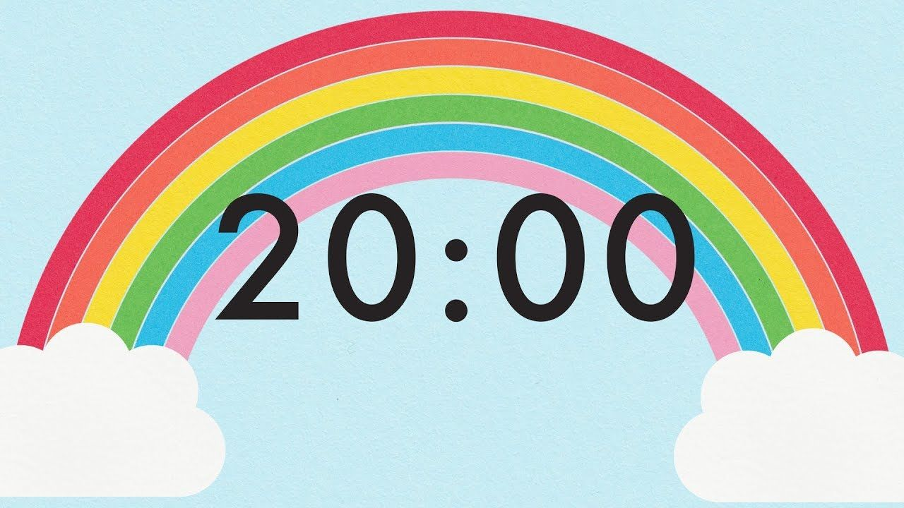 20 minute countdown rainbow timer classroom timer