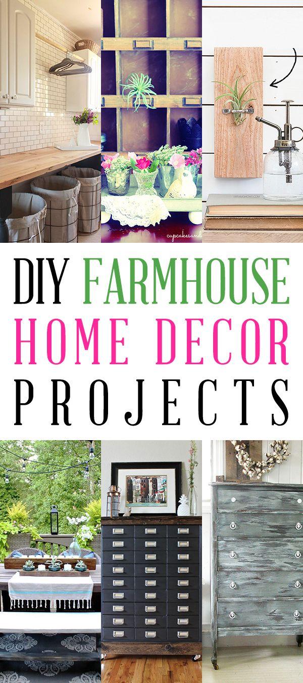 DIY Farmhouse Home Decor Projects