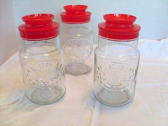 Bicentennial Glass Jars 1976 Anchor Hocking set by AngelasArtistic, $16.00