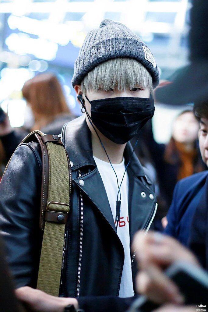 bts suga airport fashion