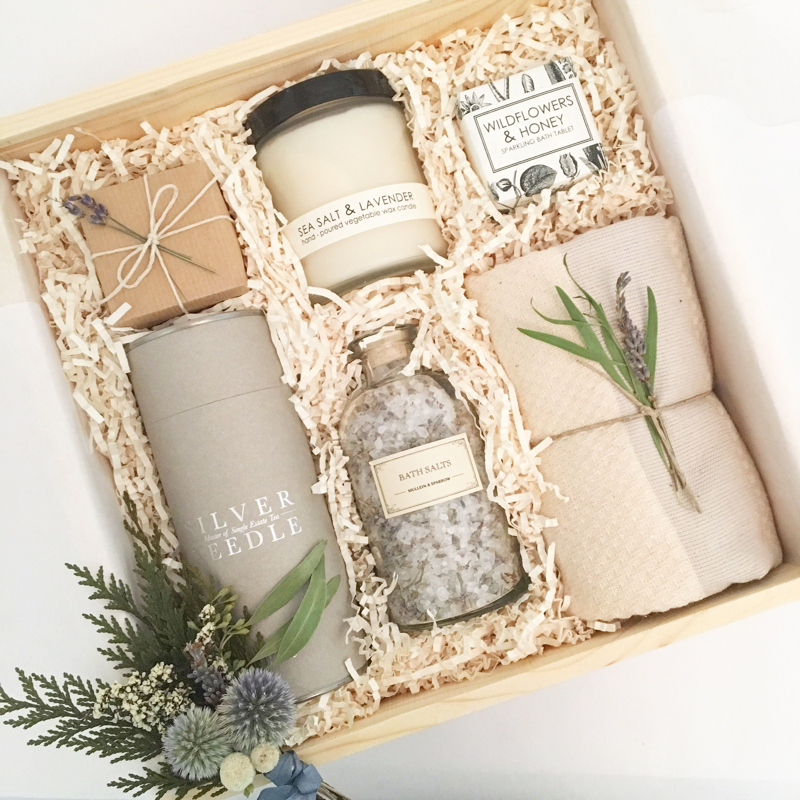 Custom birthday gift box from Loved and Found. Curated
