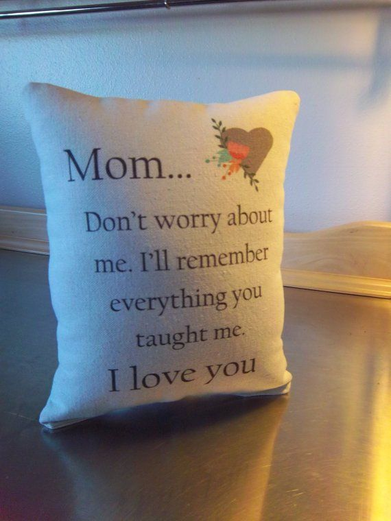 Mom Birthday Pillow Mommy Gift From Son Love You Throw