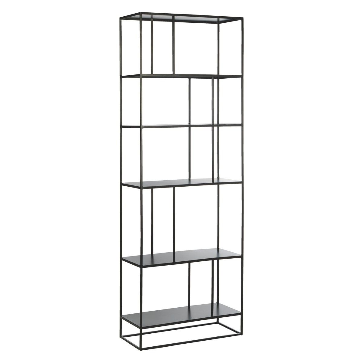 Kitchen Shelves Habitat: CALVO Black Metal Bookcase