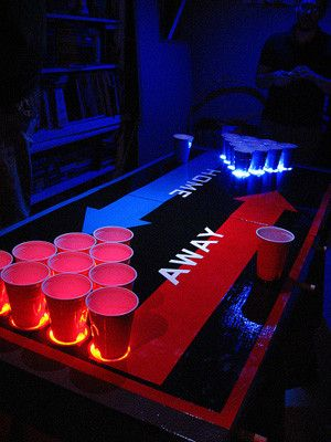 the coolest beer pong tableshome vs away table post college rh pinterest com Custom Beer Pong Tables DIY Beer Pong Table
