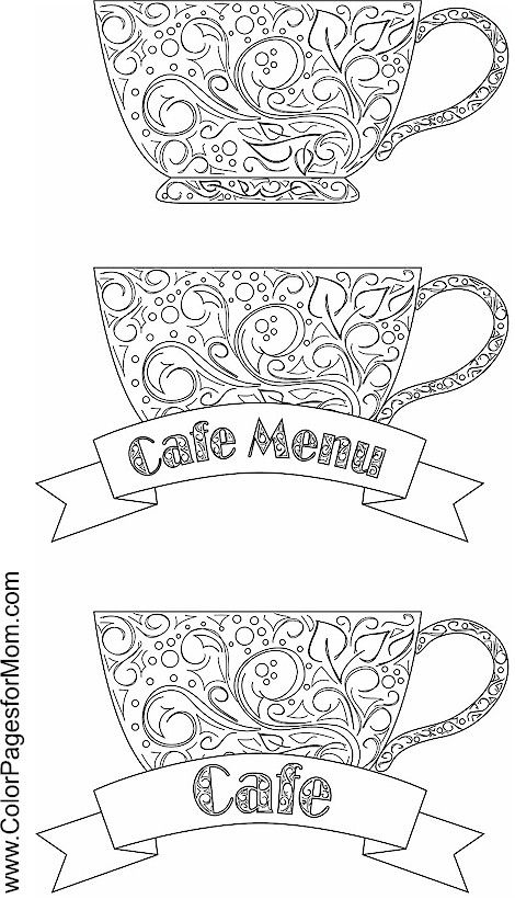 coffee coloring page 13 Adult coloring Pinterest Coffee