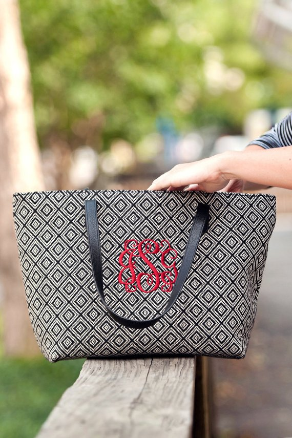 Monogrammed Diamond Purse - Bridesmaid Gift - Monogrammed Bag - Monogrammed Handbag - Unique Gift Id
