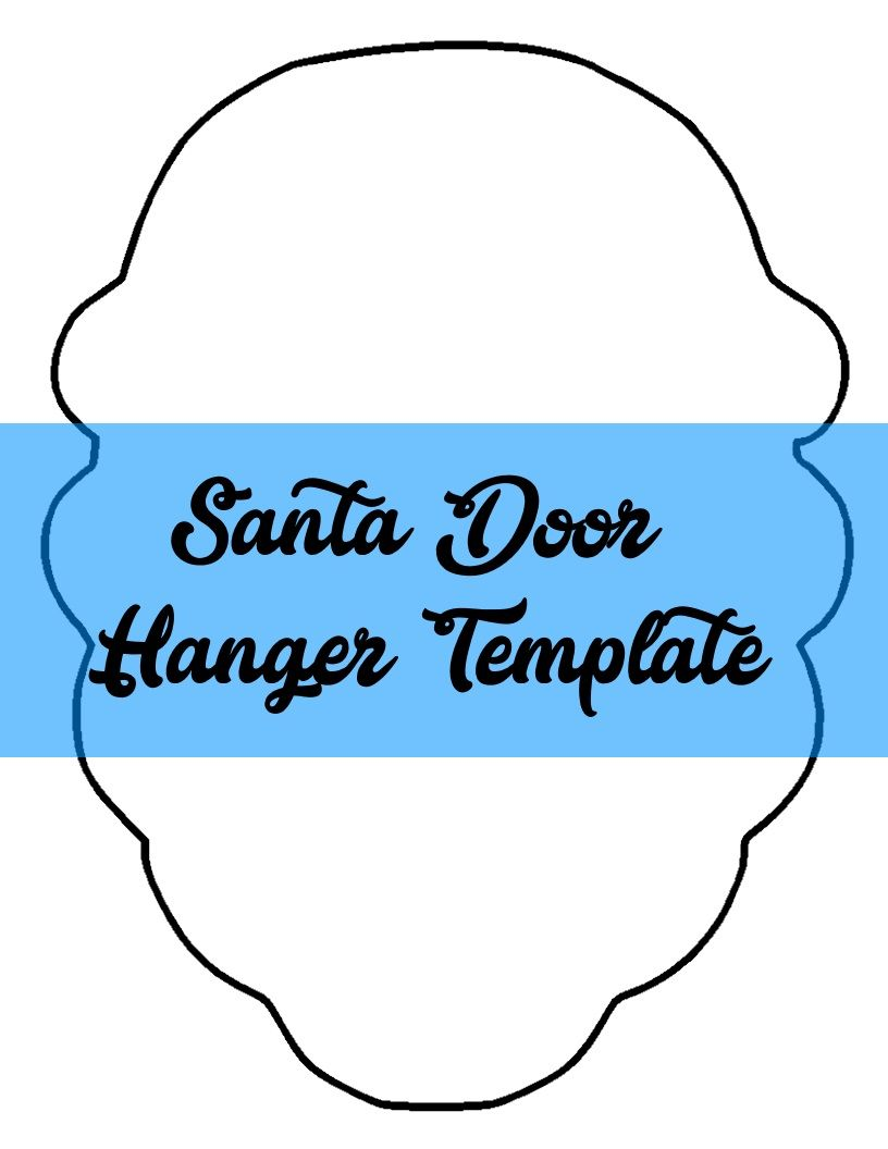 Santa Door Hanger TEMPLATE  sc 1 st  Pinterest & Santa Door Hanger TEMPLATE | Door Hanger Templates | Pinterest ...