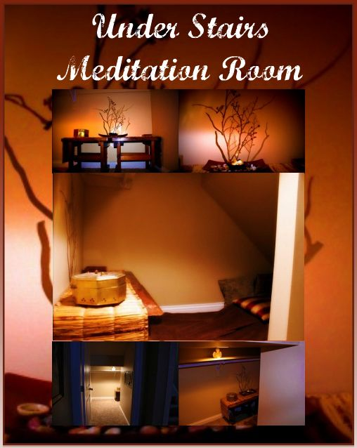 Say - Do - Succeed: Home Project - Under Stairs Meditation Room ...
