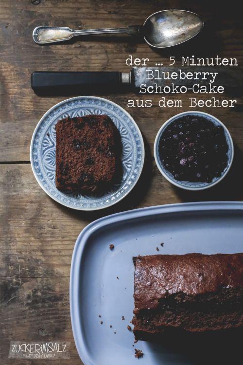 Der 5 Minuten Blueberry Schoko Cake Aus Dem Becher Kuchen