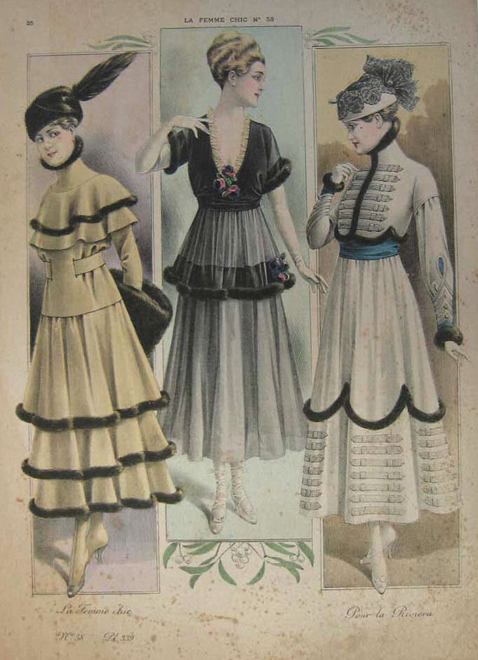 French Fashion In 1915 Historical Fashion Fashion Illustration Vintage Fashion History