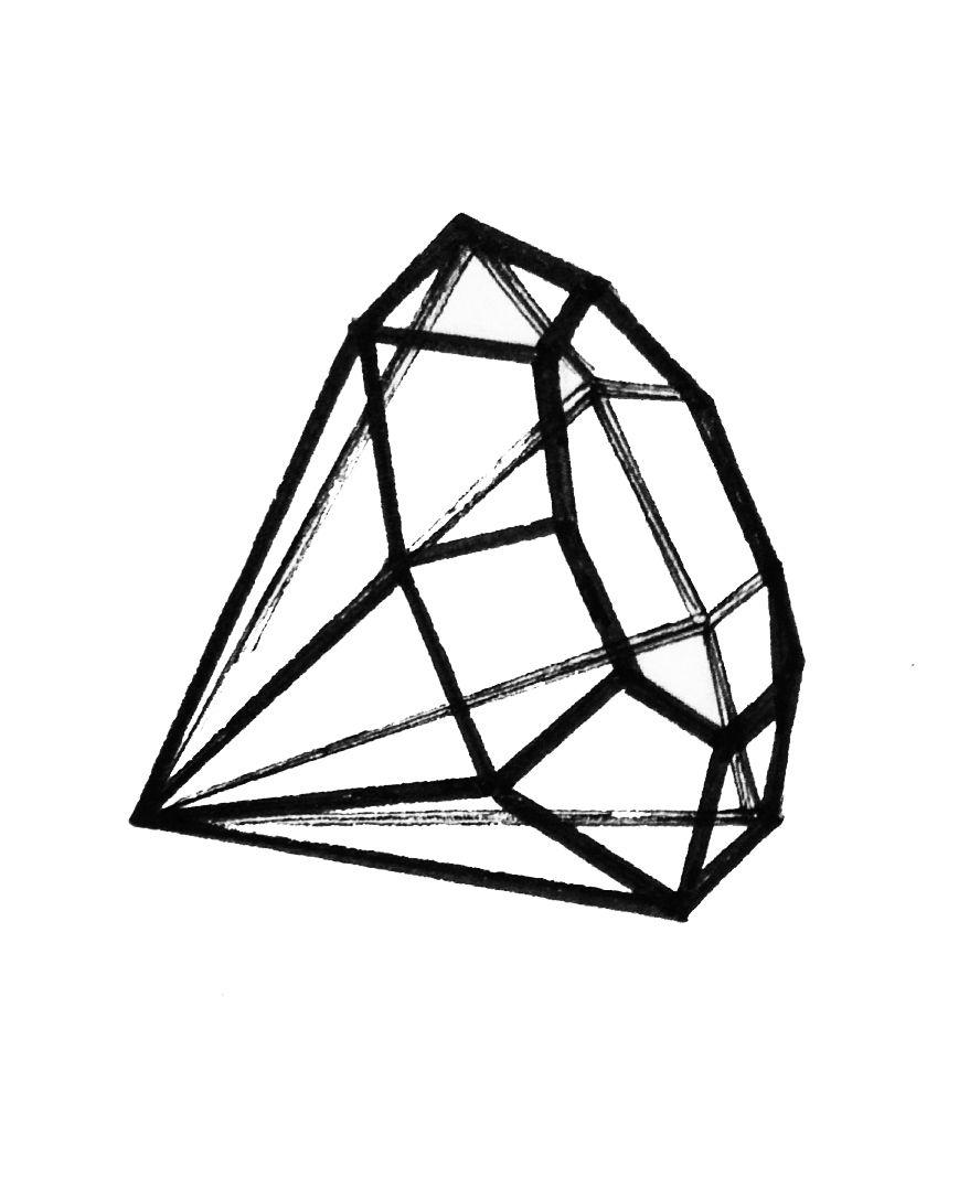 Glass diamond tattoo diamond minimalist maquillage