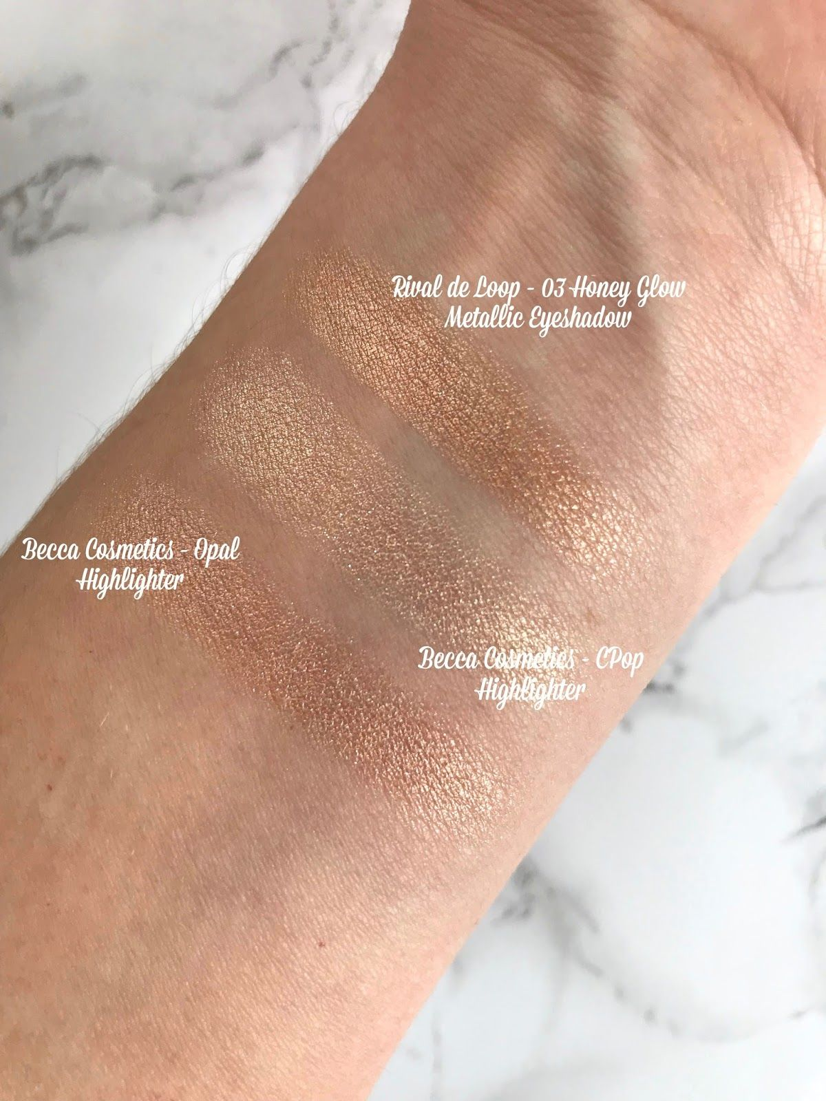 Becca Cosmetics CPop Champagne Pop Highlighter Dupe Rival de Loop ...