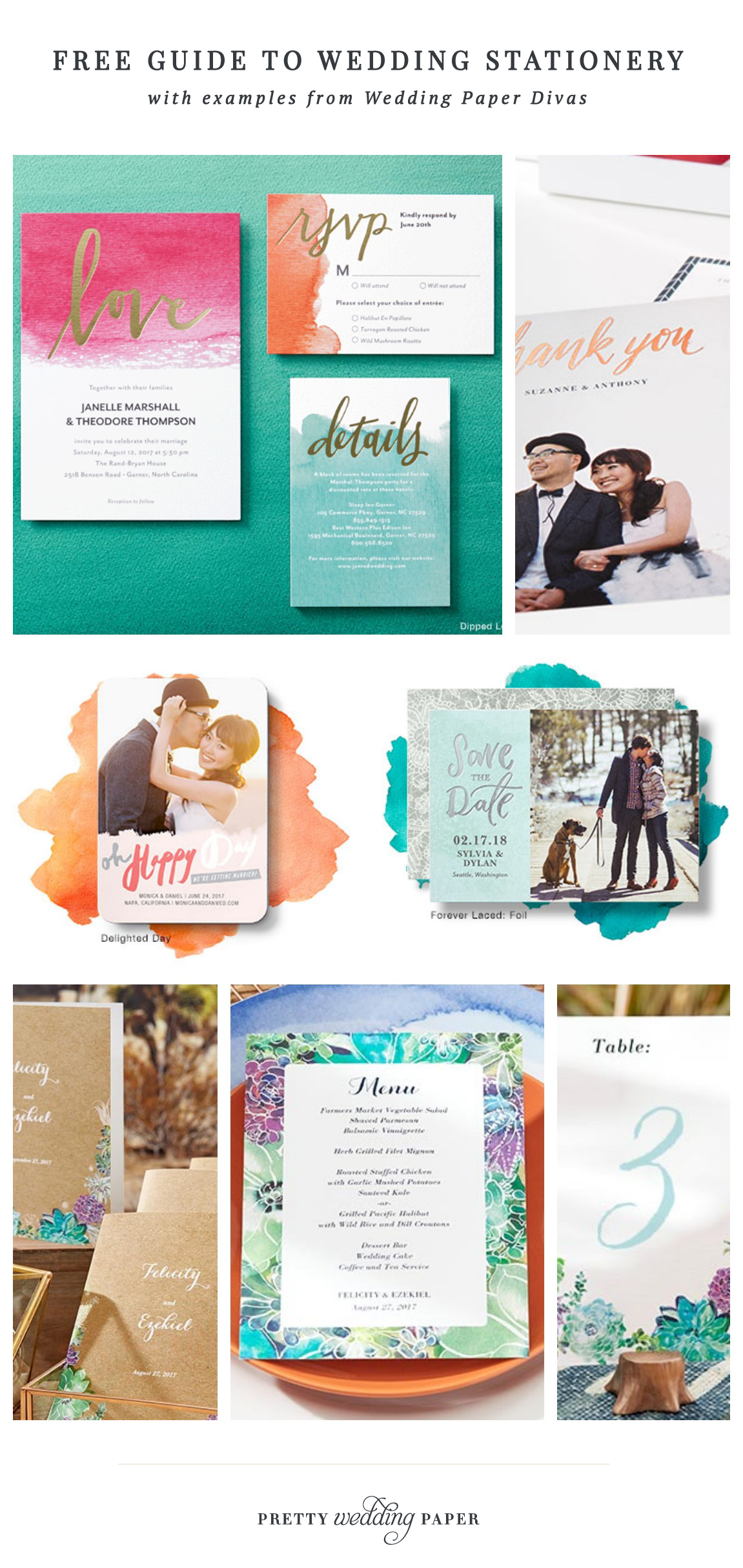 Free Guide To Wedding Stationery Ideas For Save The Dates Wedding