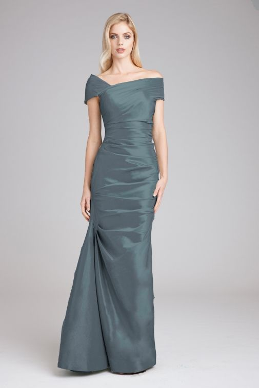 110ae7d16b5 Portrait Collar Ruched Gown