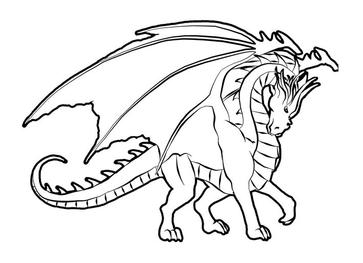 Realistic Dragon Coloring Pages Printable Dragon Coloring
