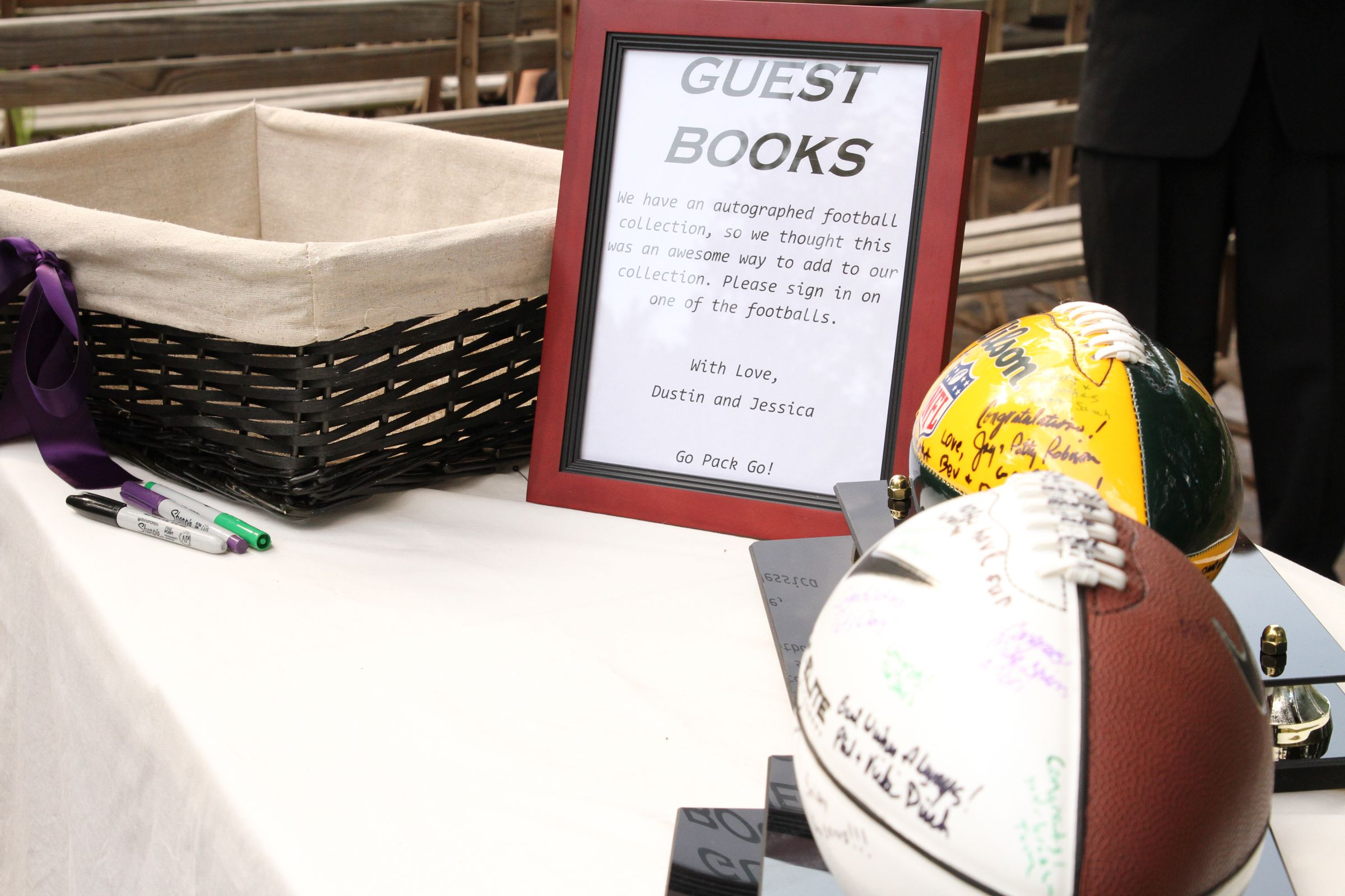 Awesome football guest book idea! | creative extras =) | Pinterest ...