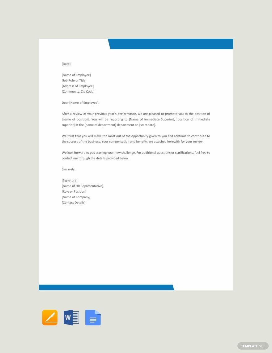 Free Promotion Letter Format Lettering Letter Templates Templates