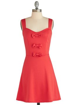 Strawberry Sure Bet Dress. This item was picked by you in our Be the Buyer Program and will be sold exclusively online at ModCloth! #red #modcloth S