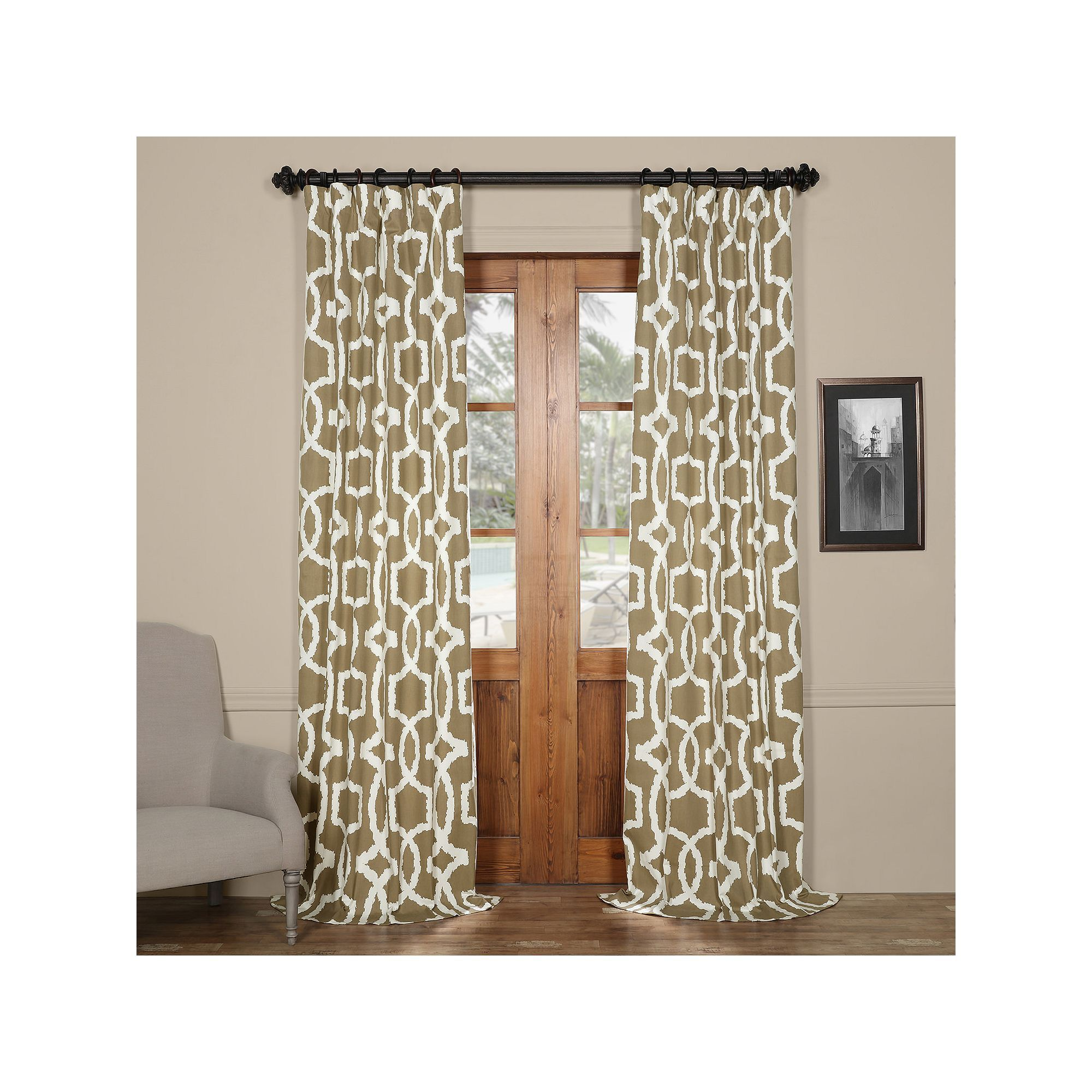 Eff lyons printed curtain brown products pinterest printed
