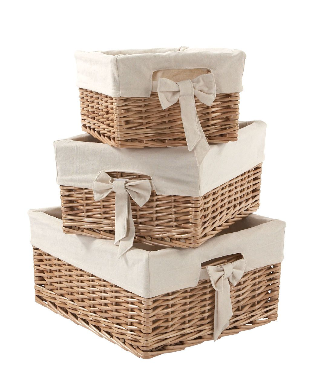 Storage Baskets  Set Of 3 In Natural   Nursery Accessories   Mamas U0026 Papas
