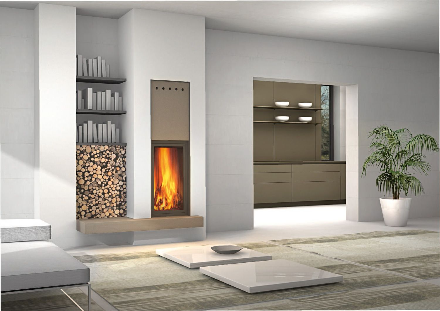 Pellet Kaminofen Piazzetta Ma266sl Beautiful Compact Built In Fireplace With A Rise And Fall