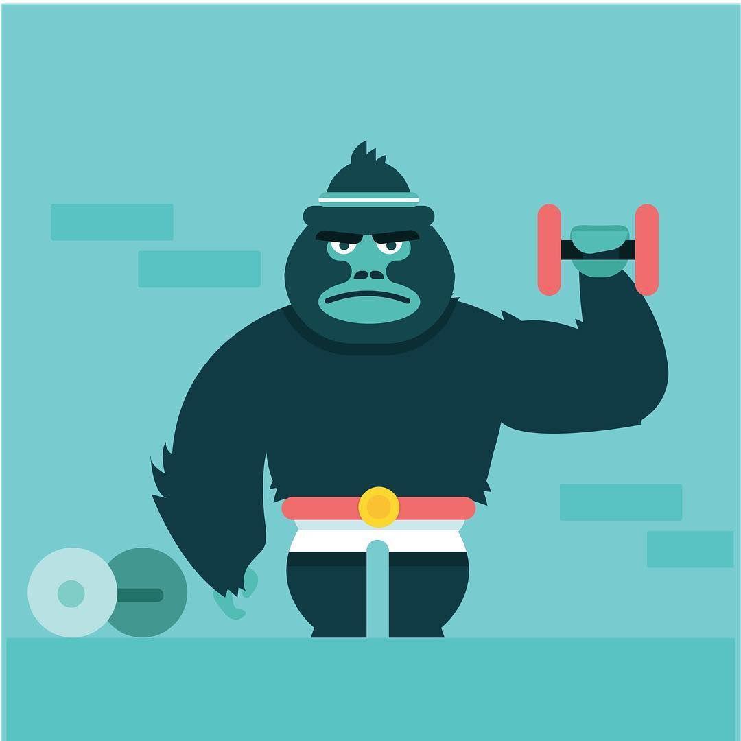 brah #gorilla #illustration #design #drawing