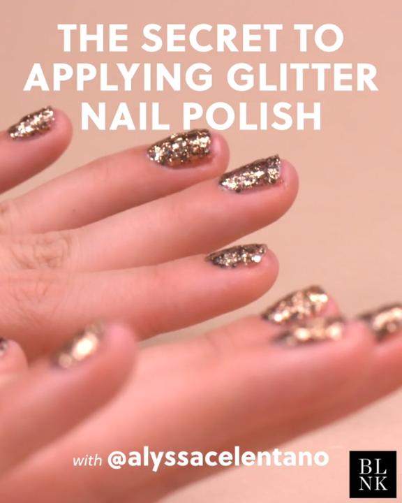 The Secret to Applying Glitter Nail Polish #blinkbeauty #nailart #glitternails #…