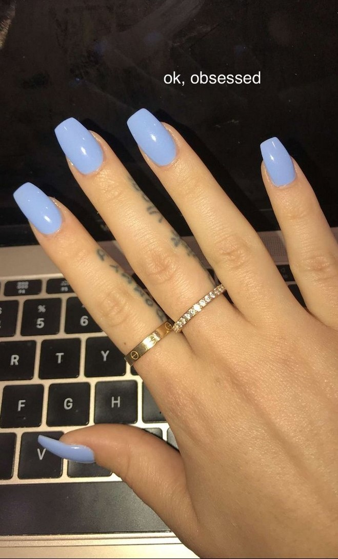 58 Stylish Acrylic Coffin Nail Designs And Colors For Summer 24 2 With Images Acrylic Nails Coffin Short White Acrylic Nails Blue Acrylic Nails