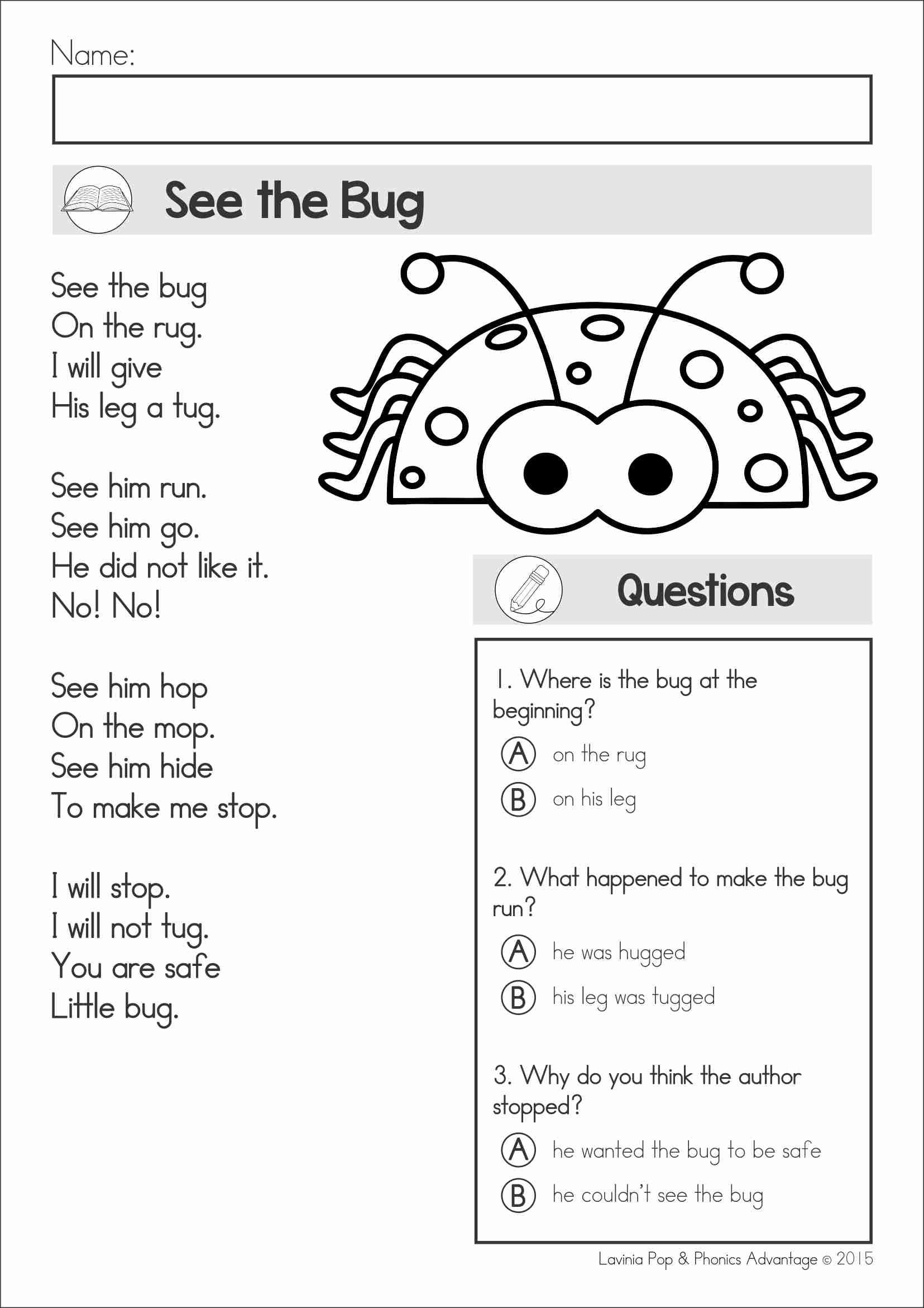Reading Comprehension \u0026 Fluency - Phonics Poems (color and black and  white). This unit includes poem…   Poetry worksheets [ 2340 x 1655 Pixel ]