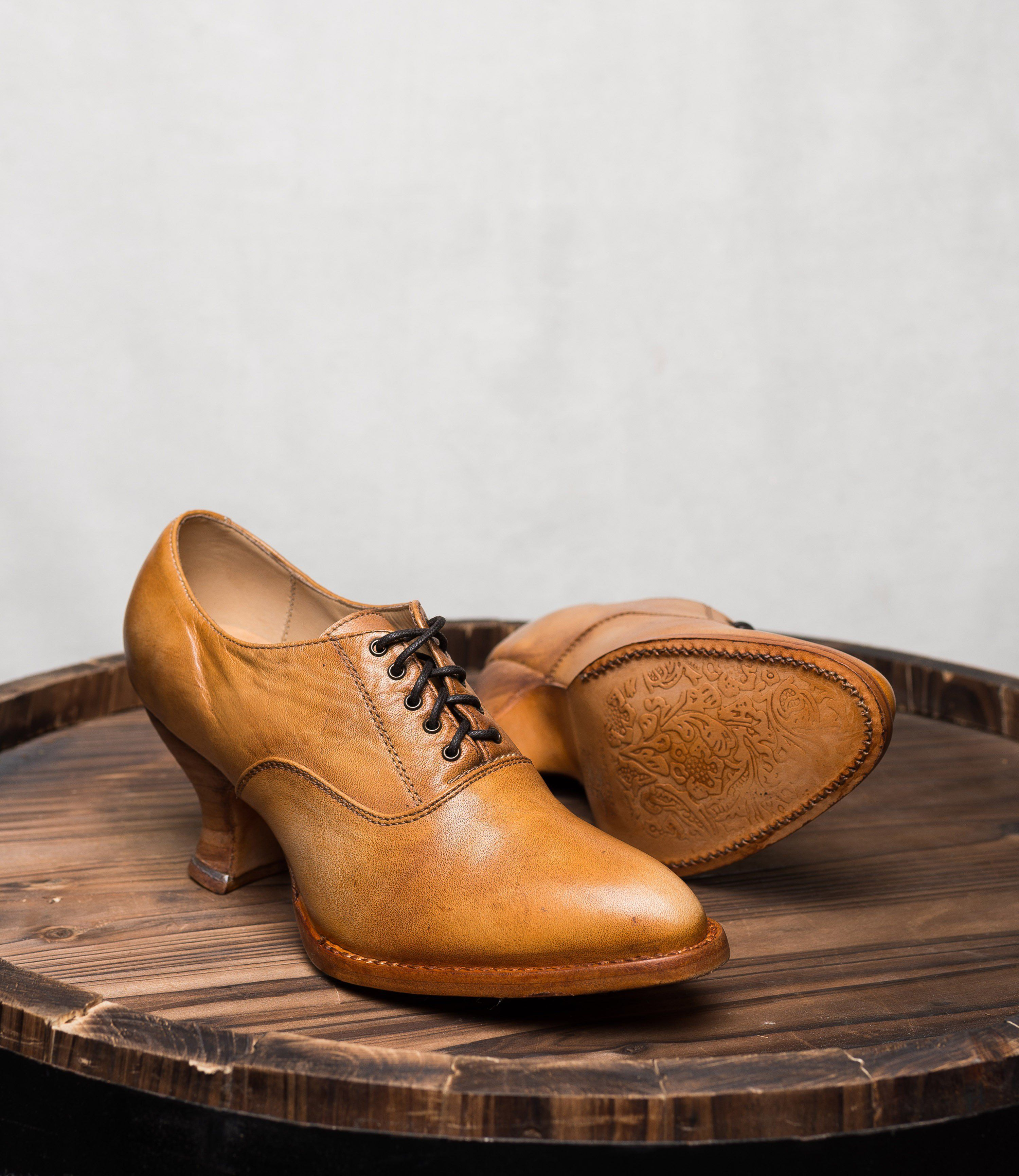 5378767ddd17 Victorian Shoes Victorian Style Leather Lace-Up Shoes in Natural Rustic  195.00  AT vintagedancer.