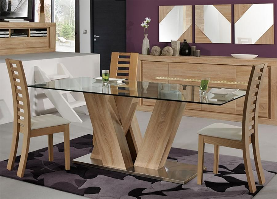 Modern Wood And Glass Dining Table Wood And Glass Dining Table