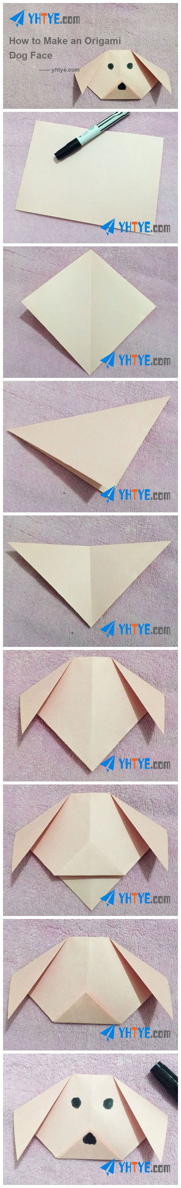 Origami dog face how to origami - How To Make An Origami Dog Face