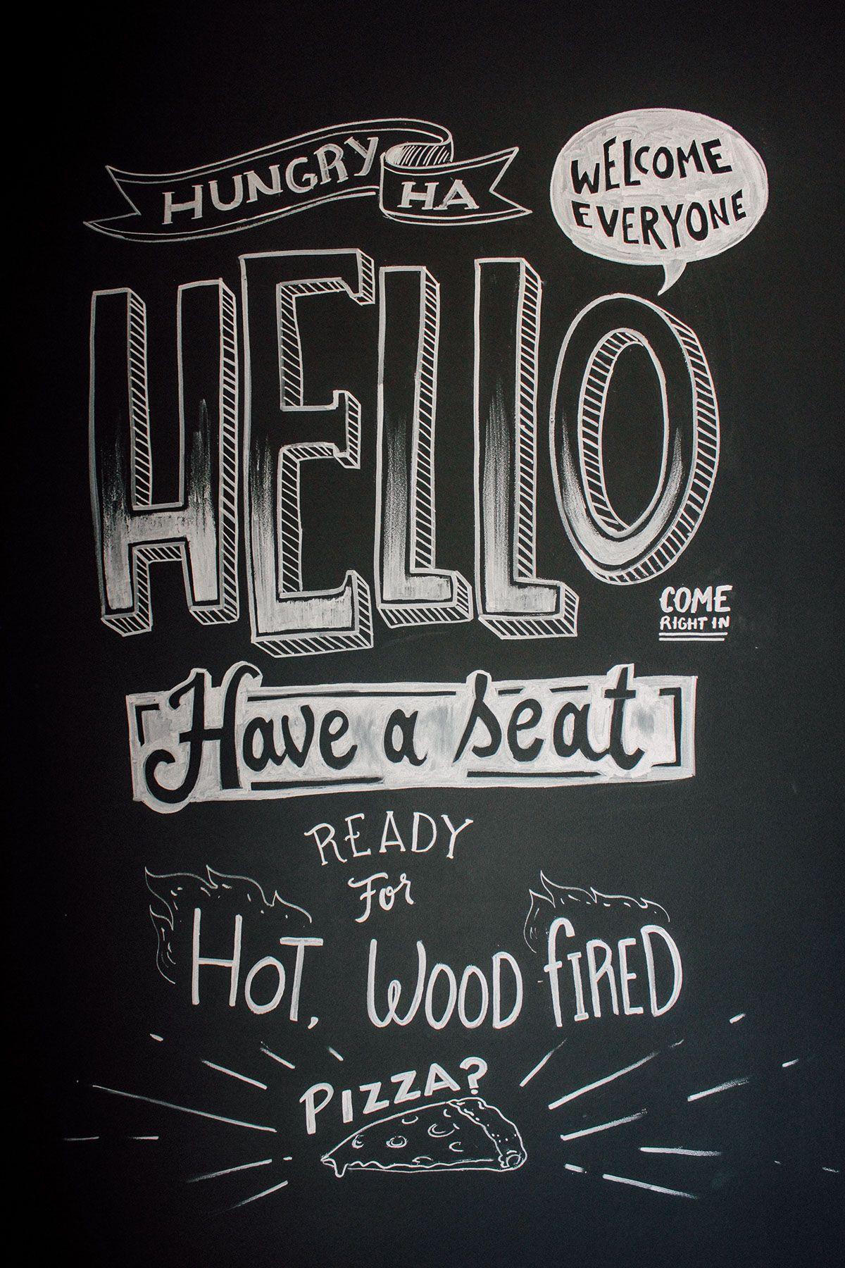 Restaurant Chalkboard Wall Design