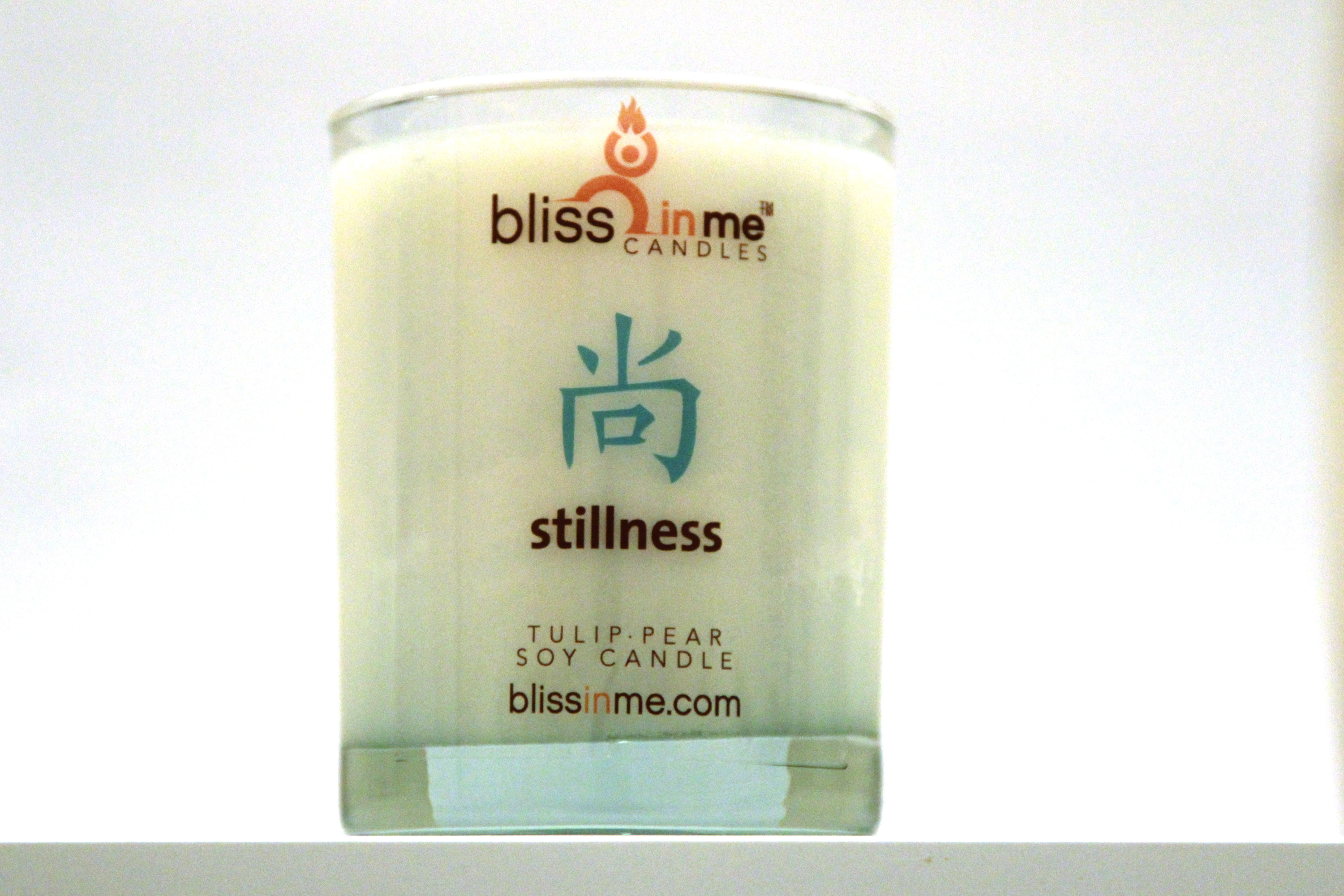 This is the Stillness #candle, it smells of pears and tulips and will keep you centered in your stillness.