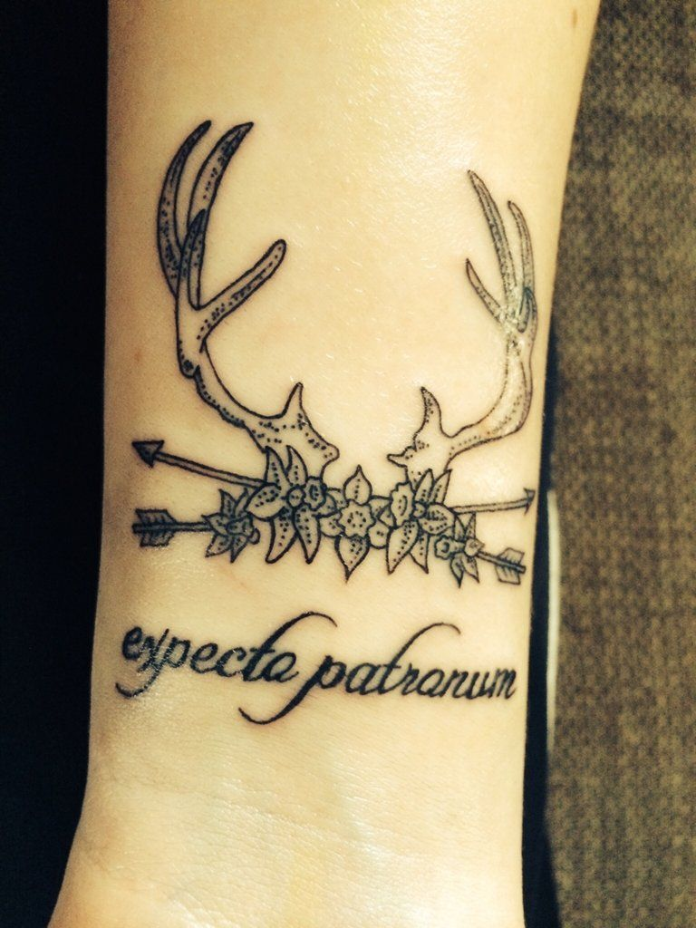 100 Magical Harry Potter Tattoos For Ultra Fans Antler Tattoos