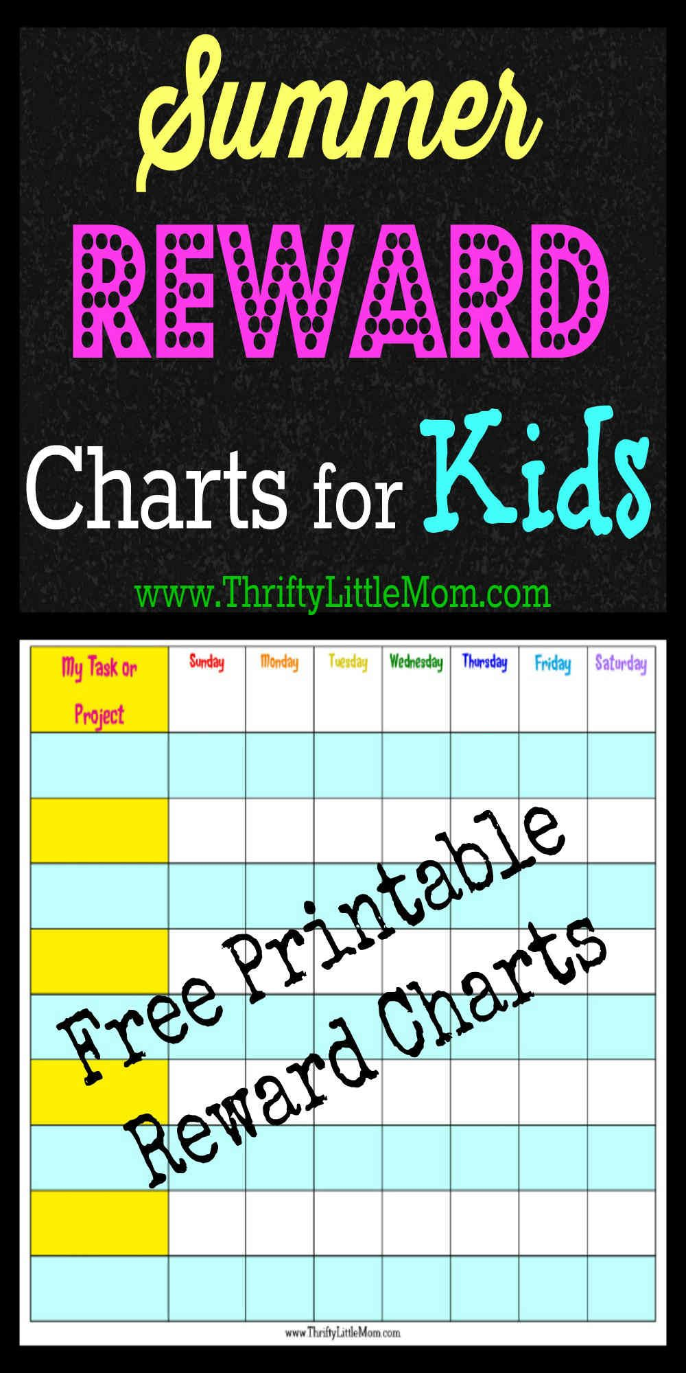 Free Printable Summer Reward Chart for Kids | {Ten Dollar DiY ...